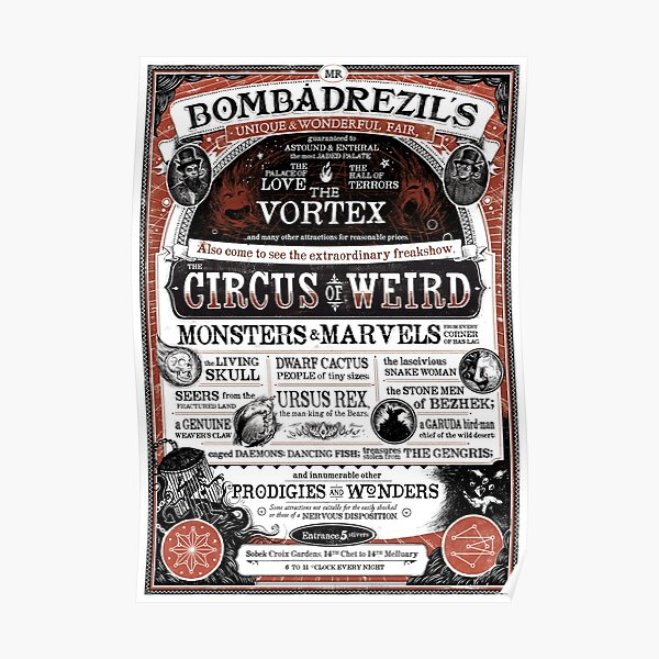 Mr. Bombadrezil's Unique & Wonderful Fair Poster
