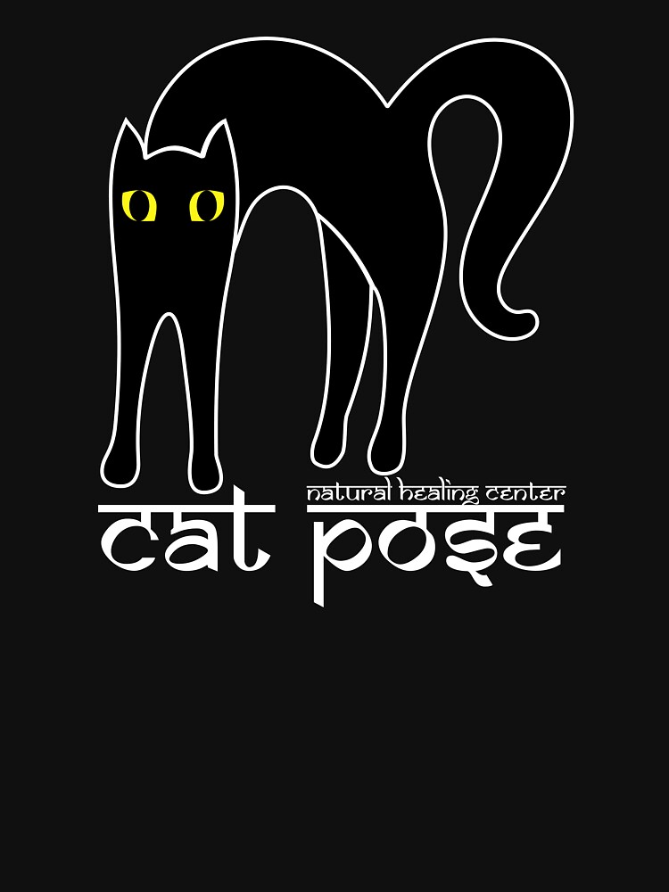 Cat Pose 1 - Cat Yoga (white text) by NaturalHealing