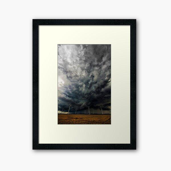 Powerful Storm Framed Art Print