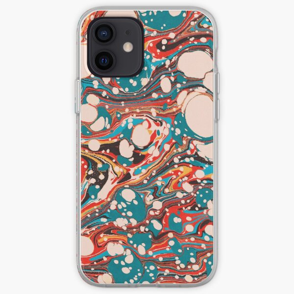 Psychedelic Marbled Paper Splash Blob Pepe Psyche iPhone Flexible Hülle