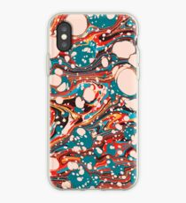Psychedelic Marbled Paper Splash Blob Pepe Psyche iPhone Case