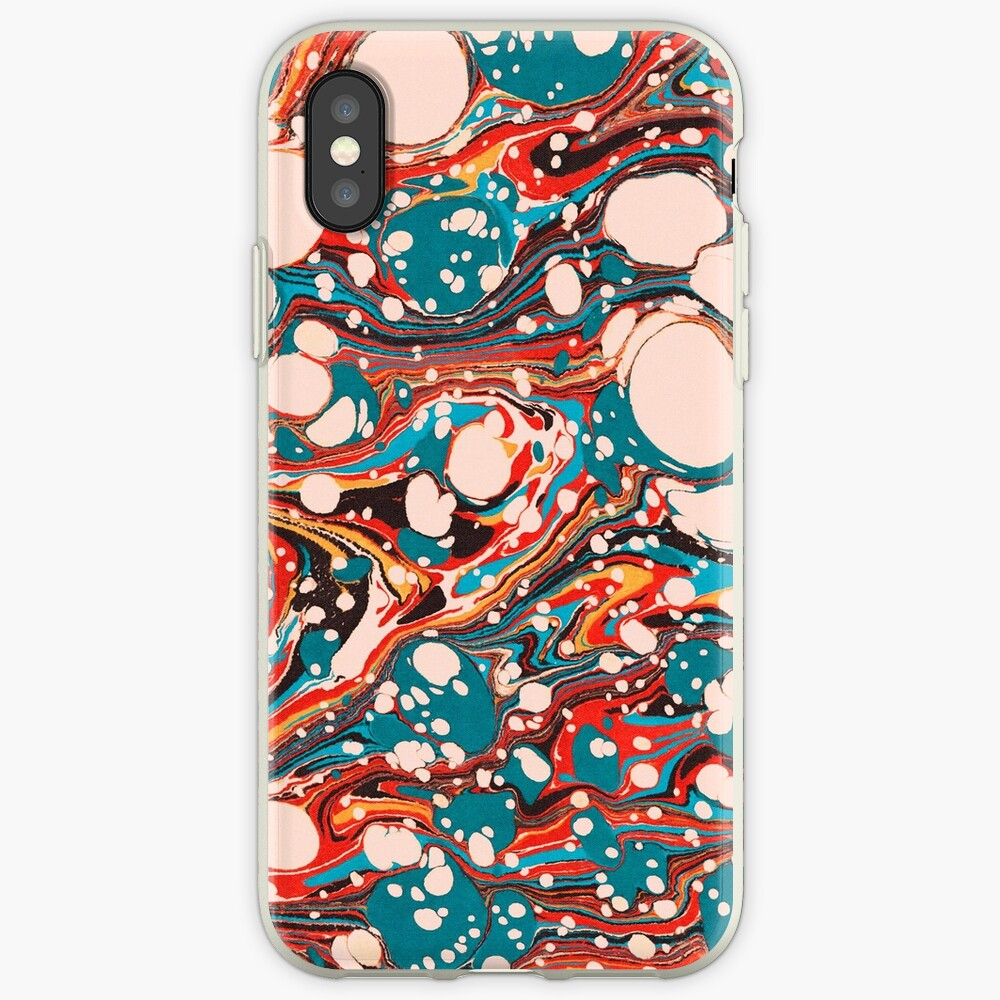 Psychedelic Marbled Paper Splash Blob Pepe Psyche iPhone Cases & Covers