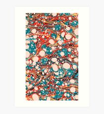 Psychedelic Marbled Paper Splash Blob Pepe Psyche Art Print
