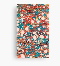 Psychedelic Marbled Paper Splash Blob Pepe Psyche Canvas Print