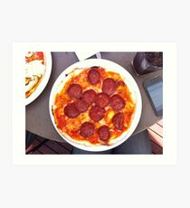 Pizza Calabrese Art Print