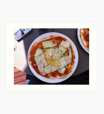 Pizza Zucchine Art Print