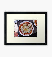 Pizza Zucchine Framed Print