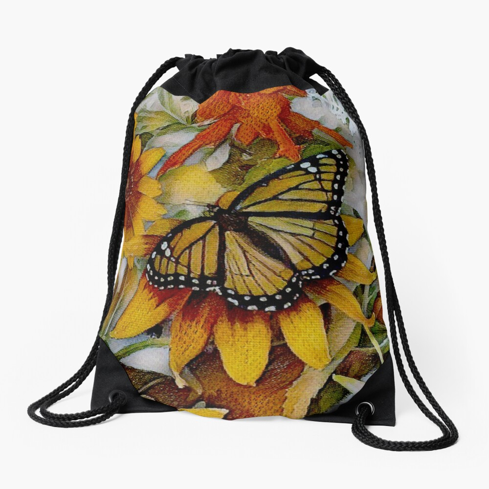 Art Show Monarch Drawstring Bag