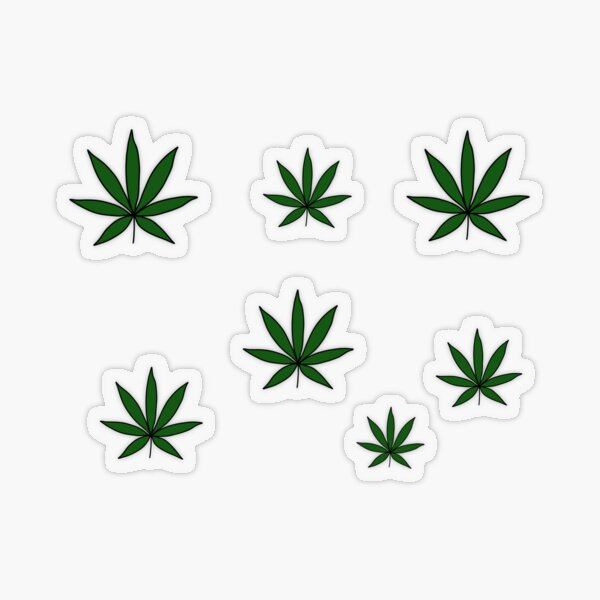 weed :) Transparent Sticker