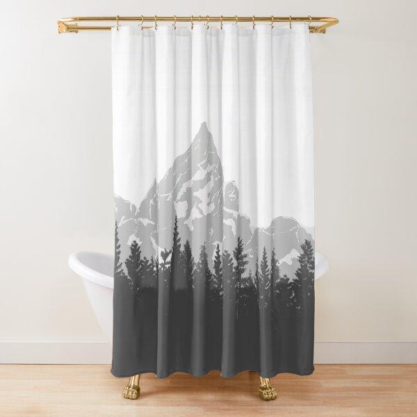 Foggy Mountain wanderlust Shower Curtain