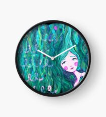 Shy Little Mermaid in the Seaweed Clock