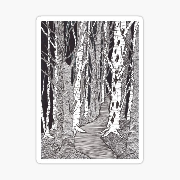 Winter forest - faith and truth Sticker