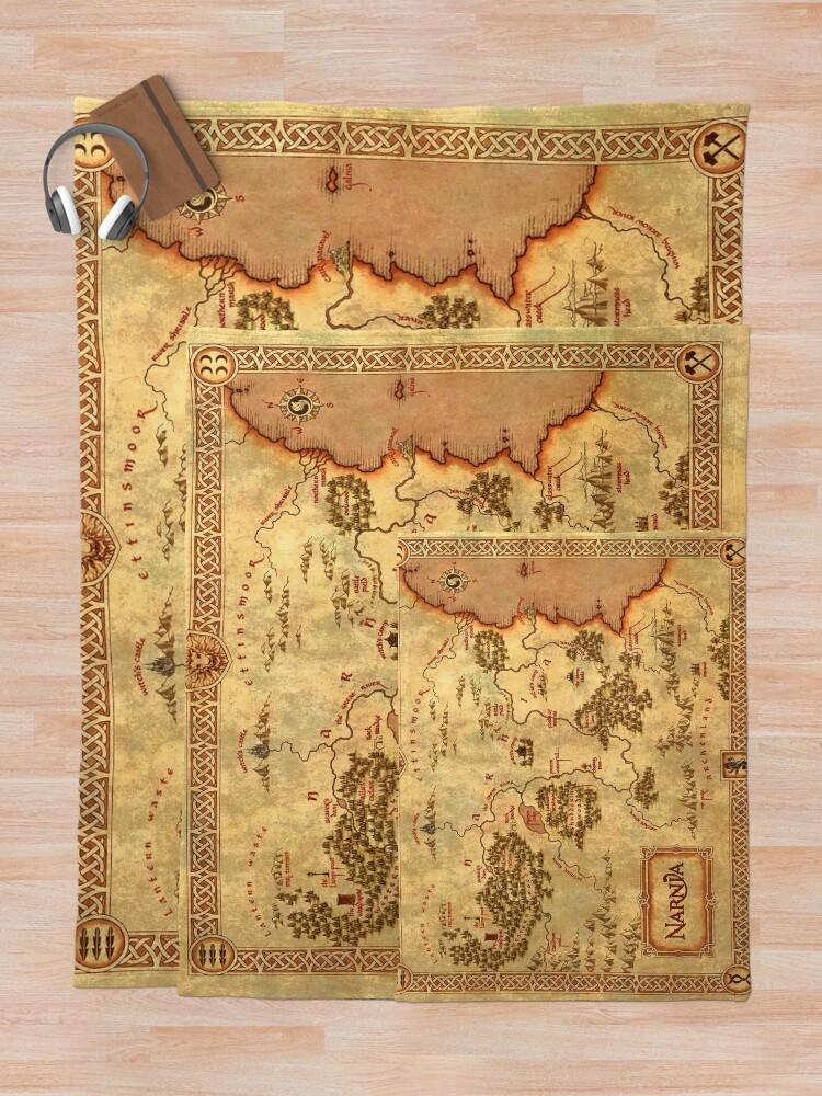 Alternate view of MAP Throw Blanket