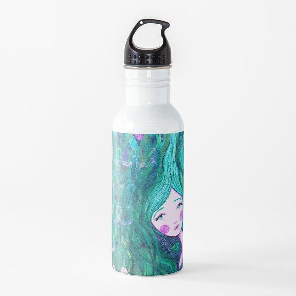Shy Little Mermaid in the Seaweed Water Bottle