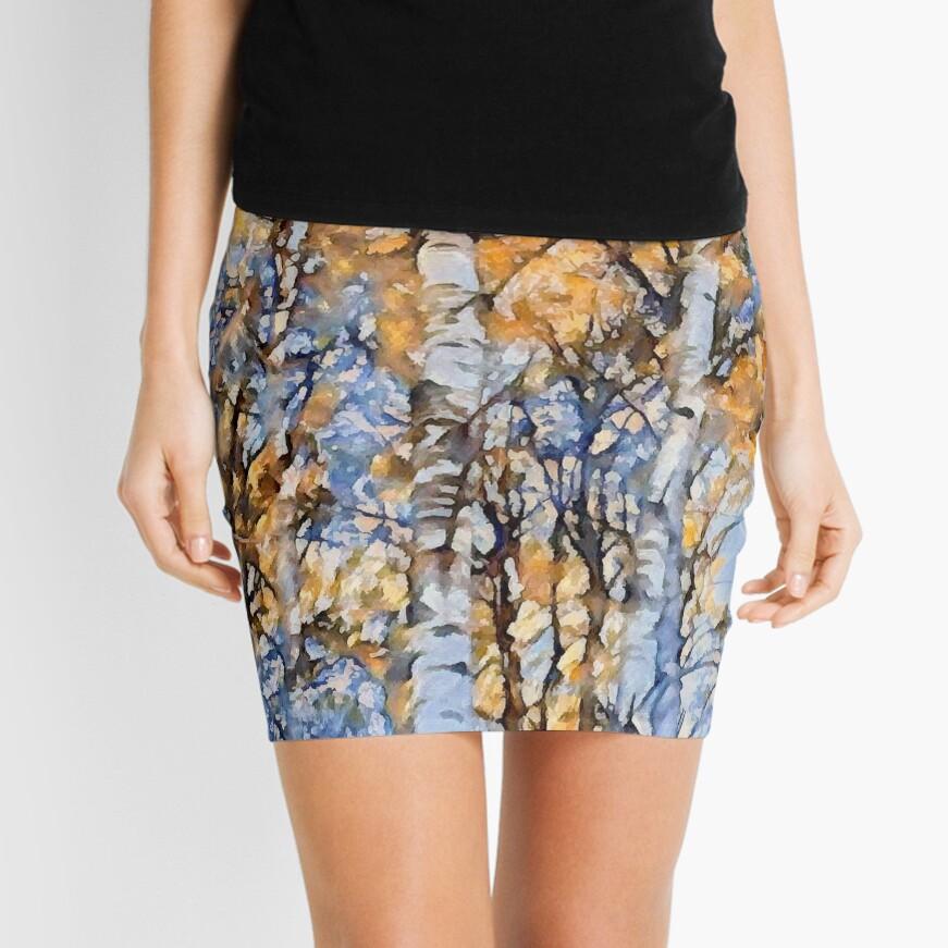 Autumn Birch Mini Skirt