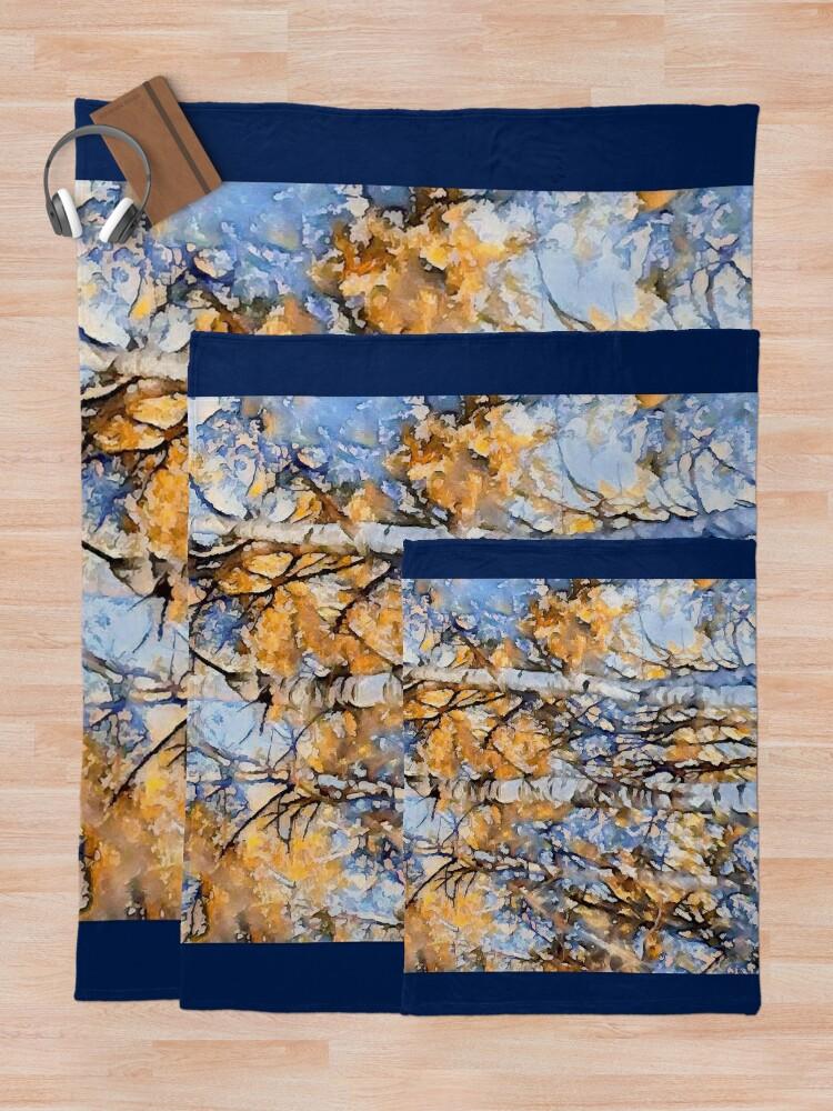 Alternate view of Autumn Birch Throw Blanket