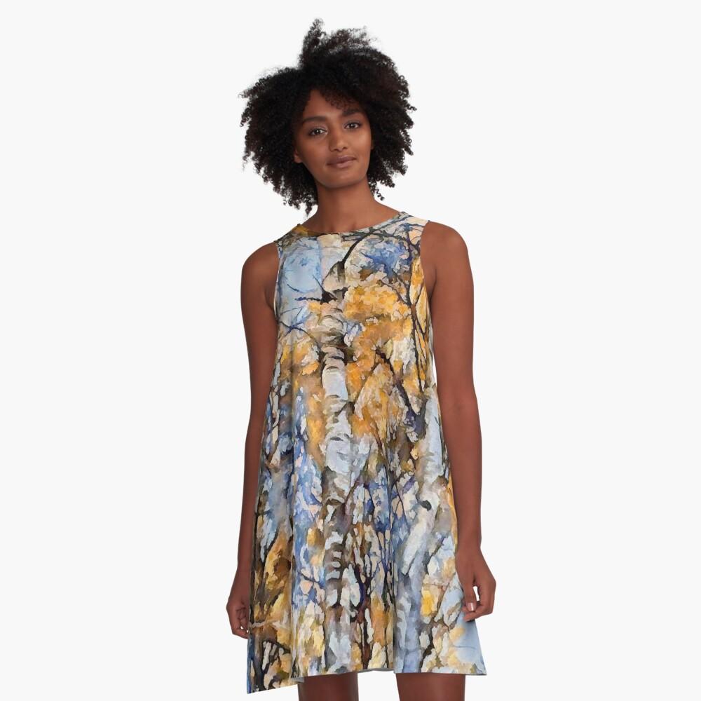 Autumn Birch A-Line Dress