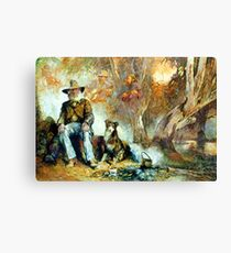 The Singing Swaggie - Waltzing Matilda Series Canvas Print