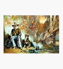 The Singing Swaggie - Waltzing Matilda Series Photographic Print