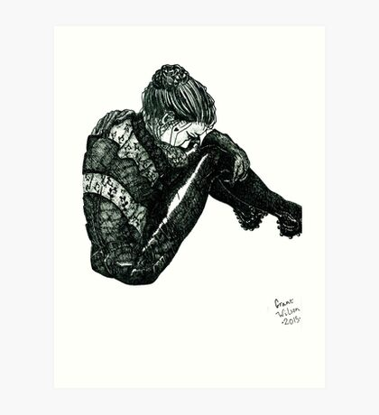 Vigilant [Pen Drawn Figure Illustration] Art Print