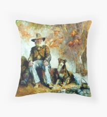 The Singing Swaggie - Waltzing Matilda Series Throw Pillow