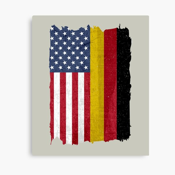 United States with Germany Flag Mix US and German Country Flags  Canvas Print