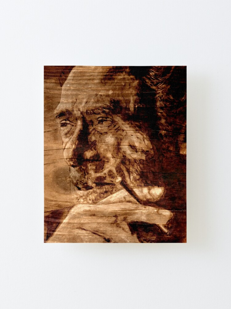 Alternate view of Charles BUKOWSKI - WOOD - quote Mounted Print
