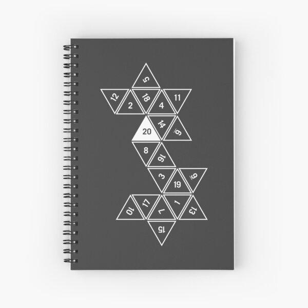 Unrolled D20 Spiral Notebook