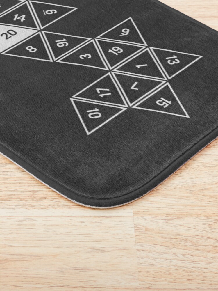 Alternate view of Unrolled D20 Bath Mat