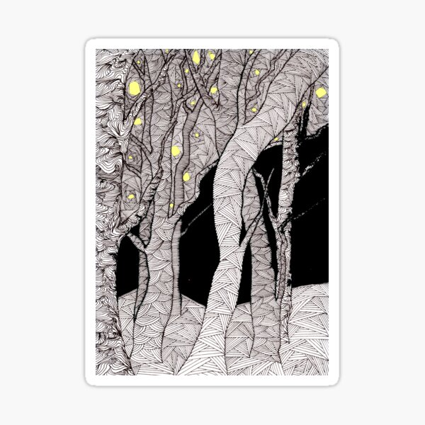 Night forest - faith and truth Sticker