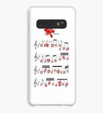 Psycho shower theme music Hitchcock art sheet Case/Skin for Samsung Galaxy