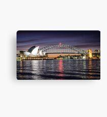 Sydney Icons at Sunset Canvas Print