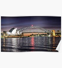Sydney Icons at Sunset Poster