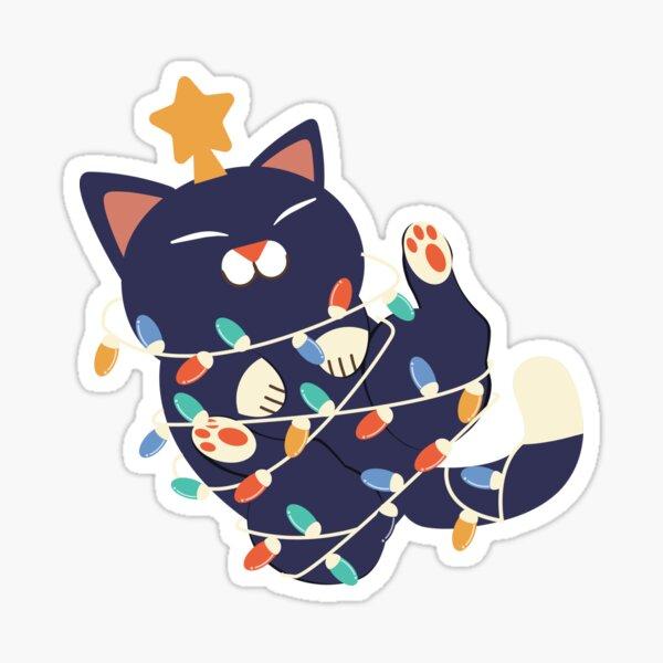 Christmas Kitty Sticker