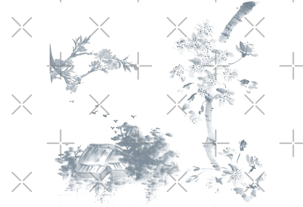 Sumi-e inspired (01) by liajung