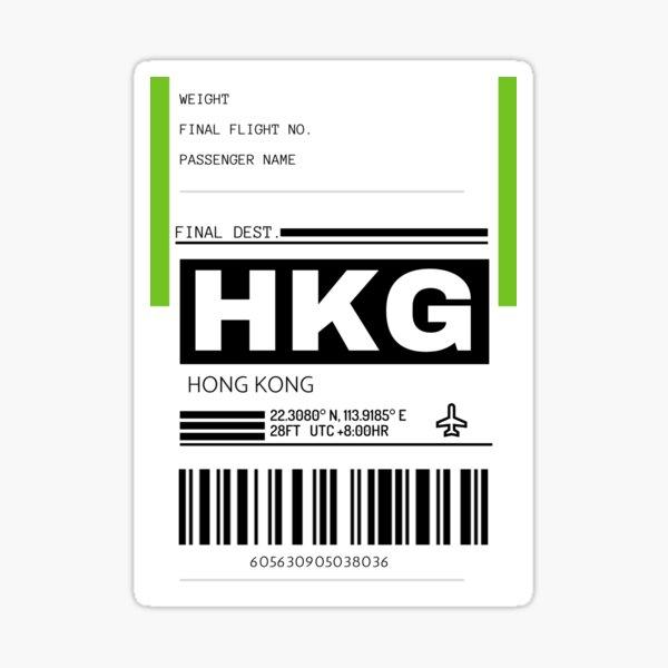 HKG Hong Kong International Airport Luggage Tag  Sticker