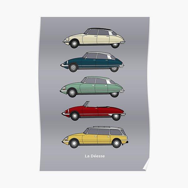 Citroen DS Collection - Version couleur Poster