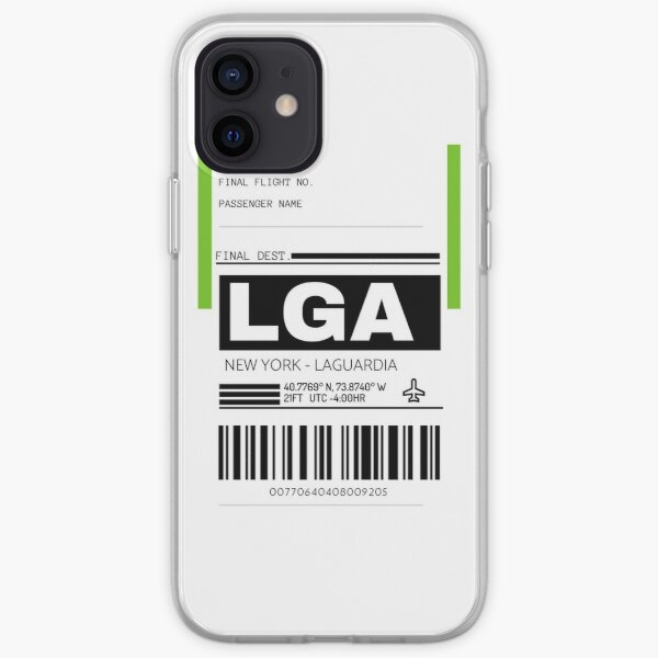 LGA New York LaGuardia International Airport Luggage Tag  iPhone Soft Case