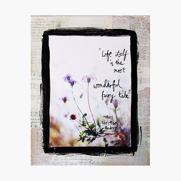 Wonderful Fairy Tale - flowers in sunlight Photographic Print