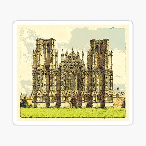 Wells Cathedral Watercolour  Sticker