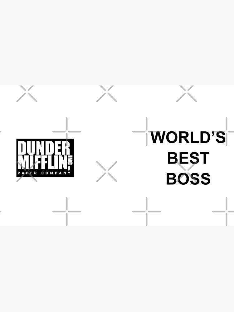Worlds Best Boss The Office Dunder Mifflin by skr0201