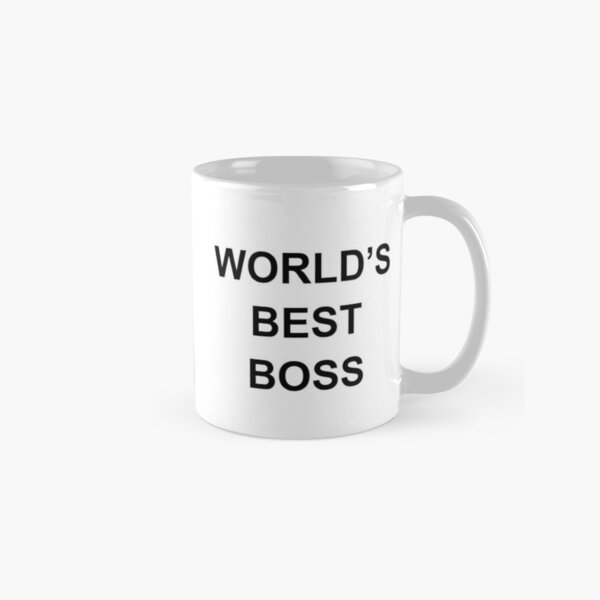 Worlds Best Boss The Office Dunder Mifflin Classic Mug