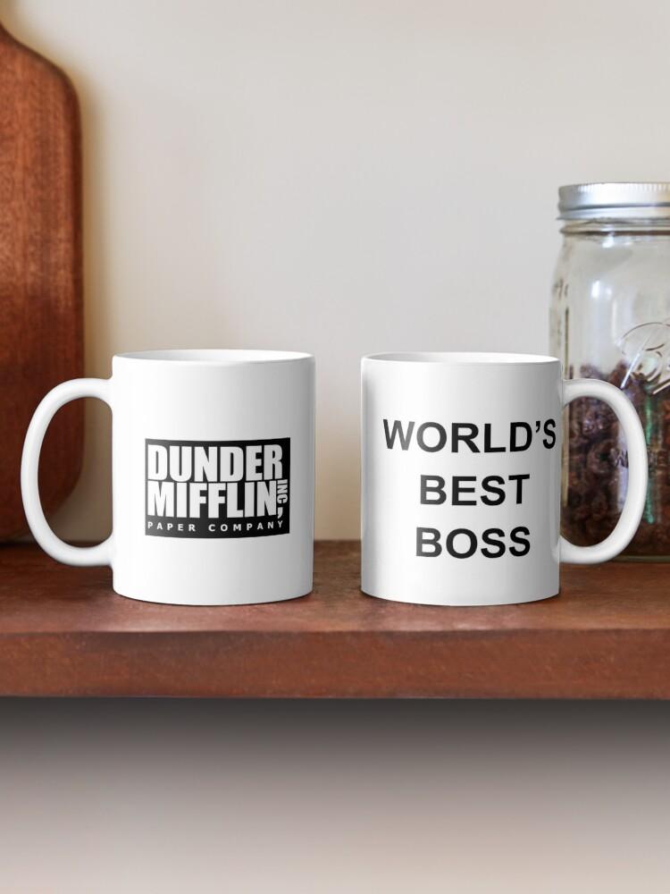 Alternate view of Worlds Best Boss The Office Dunder Mifflin Mug