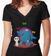 Trap Door. Women's Fitted V-Neck T-Shirt