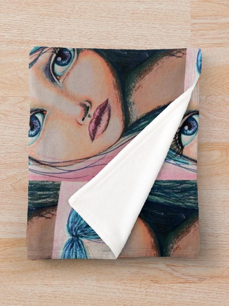 Alternate view of Blue Girl Throw Blanket