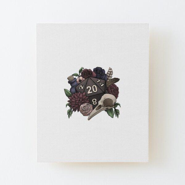 entouré de fleurs sombres Impression montée sur bois