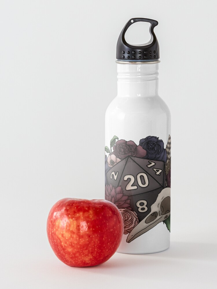 Alternate view of Necromancer D20 Tabletop RPG Gaming Dice Water Bottle