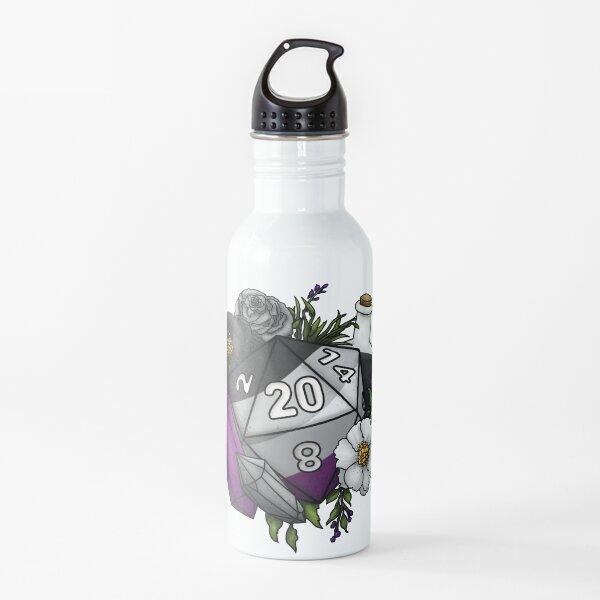 Pride Asexual D20 Tabletop RPG Gaming Dice Water Bottle