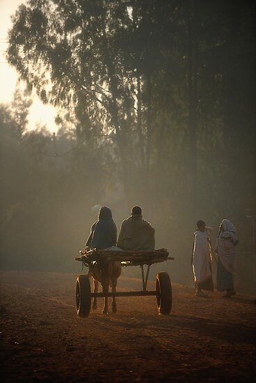 Early morning commuters in Bahir Dah by Heather Prince