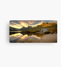 Cradle Mountain Boat Shed Canvas Print